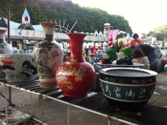 A pot shop beside the bus stop