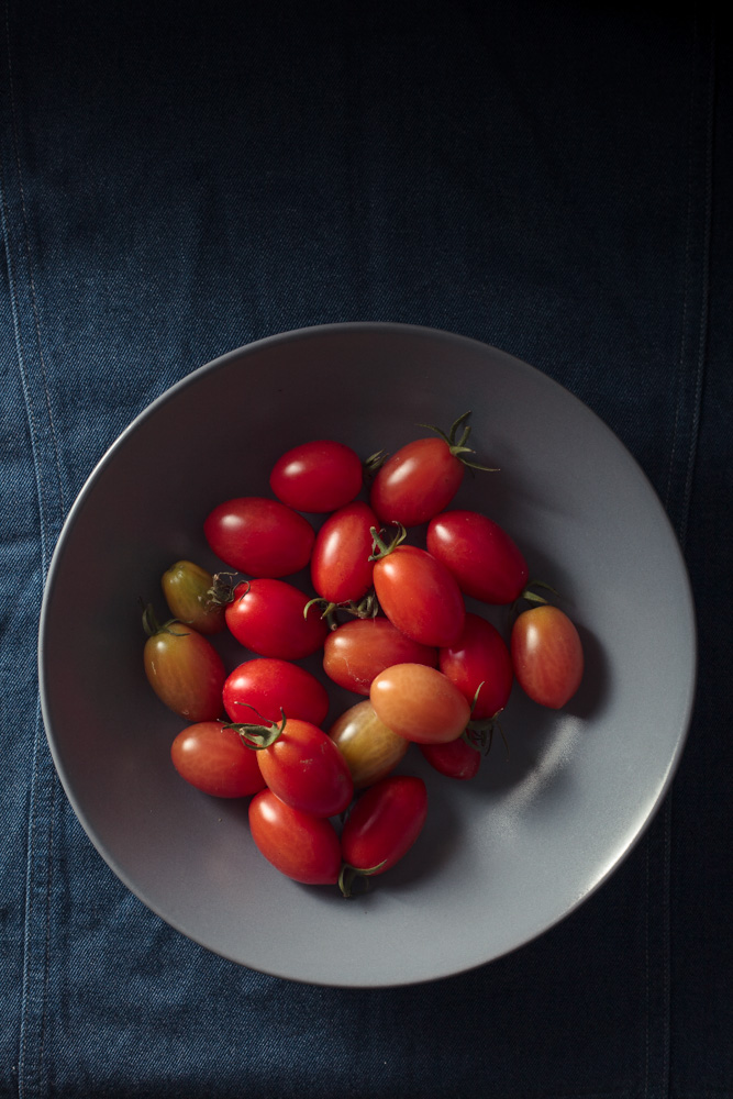 Baby Plum tomatoes in a bowl
