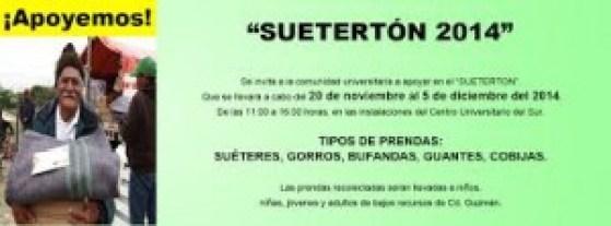 Campaña Sueterton. Extraído de:www.periodicoelsur.com