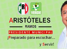 Aristóteles Ramos Guzmán. Candidato a presidente municipal de Tuxpan, Jalisco por PRI- Verde Ecologista. Extraído de: Facebook.com