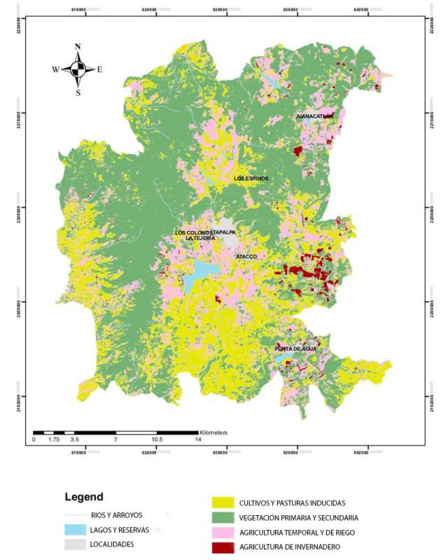 uso de suelo en TAPALPA 2017 (Adaptado de la Dra. Housni)