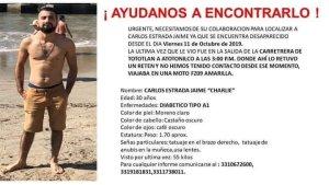 Familiares piden ayuda para localizar a Carlos Estrada Jaime