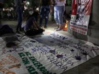 Feministas realizan mural visibilizando la violencia de género en Ciudad Guzmán