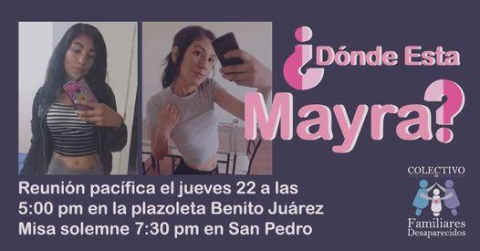 Familias se manifestarán en Ciudad Guzmán a un año de la desaparición de Mayra Edith