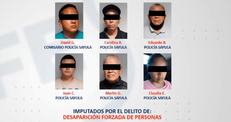 Detienen a comisario y cinco policías más de Sayula por desaparición forzada