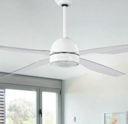 03950992BL Ventilador de techo palas metacrilato transparente (d.132 x h30 cms)