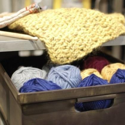 para guardar las lanas ...
