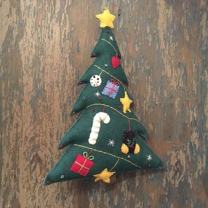 Adorno Navidad Arbol Fieltro