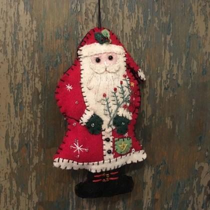 Adorno Navidad Santa Fieltro