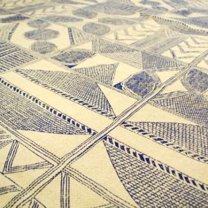 detalle alfombra motivos geométricos