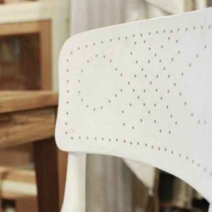 detalle Silla Thonet blanca mod. Formentera