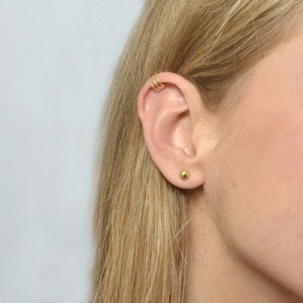 Ear cuff triple ajustable
