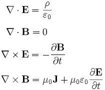 La Teoría Electromagnética: Ecuaciones de la Teoría