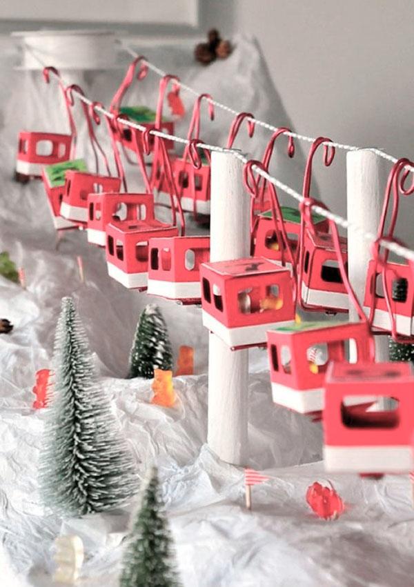 advent christmas calendar decoration copper wall inspiration noel kids handmade creativity