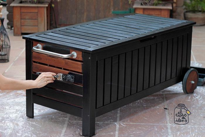 baul decorado pintura mueble ikea pintar restaurar diy paso a paso tutorial antes y despues