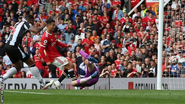 Cristiano Ronaldo scores his first goal