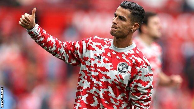 Cristiano Ronaldo, Manchester United, warm-up thumbs up