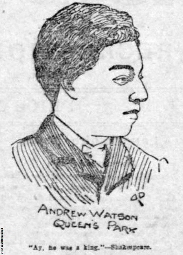 Drawing of Andrew Watson