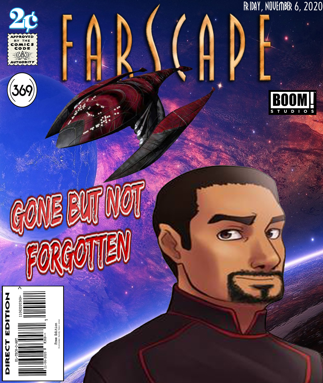 Fan Photoshop Edit Comic Cover of Farscape Bialar Crais and Talyn