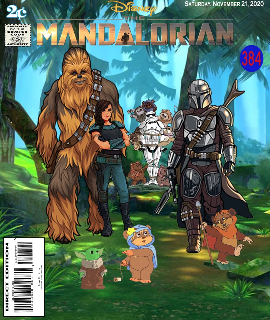 Fan Photoshop Edit Comic Cover Of The Mandalorian