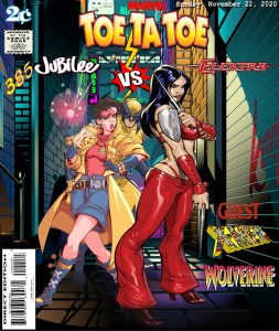 Fan Photoshop Edit Comic Cover Of Electra, Jubilee, and Wolverine