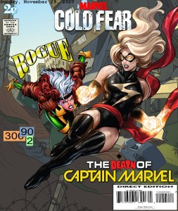 Fan Photoshop Edit Comic Cover Of Captain Marvel and Rogue