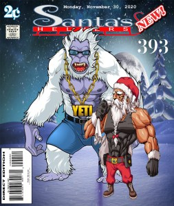 Fan Photoshop Edit Comic Cover Of Santa and his Yeti