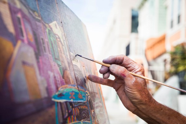 Street Painter Of Mission Anthony Holdsworth