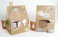 Spielhaus aus Karton