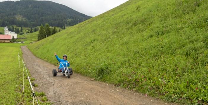 Berge, runterfahren, Graubünden, Savognin, Mounaincart