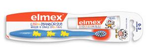 Elmex Zahnpflege Kinderzahnbürste Lernzahbürste Zähne putzen Zahnungsschmerzen