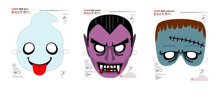 Frankenstein, Dracula, Geist, Canon, Creativpark, Geburtstag, Halloween, Grusel, Monster, Geister, Vampire, Hexen, Geburtstagsparty, basteln, Masken,