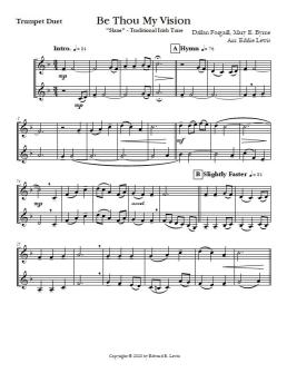 Be Thou My Vision Sheet Music for Trumpet Duet Sample Page