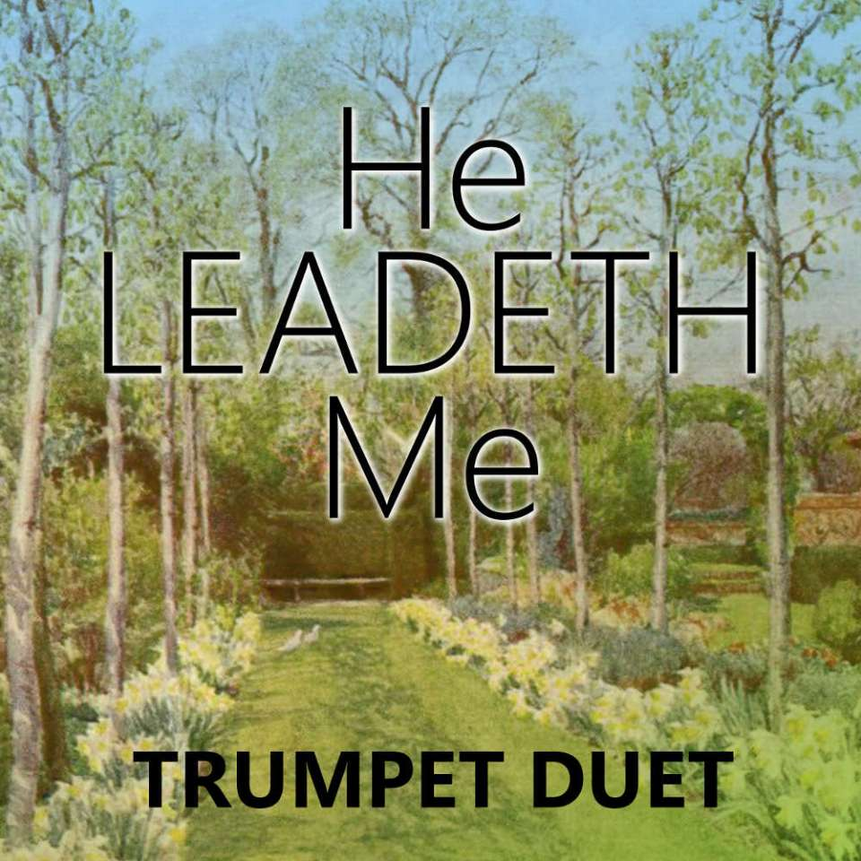 He Leadeth Me Trumpet Hymn Duet sheet music PDF