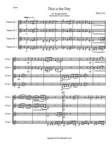 This Is the Day Trumpet Quartet Sheet Music PDF Sample Score