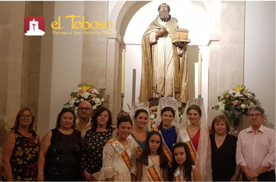 La Parroquia de El Toboso celebra la «solemnidad de San Agustín» en el día grande de la Feria