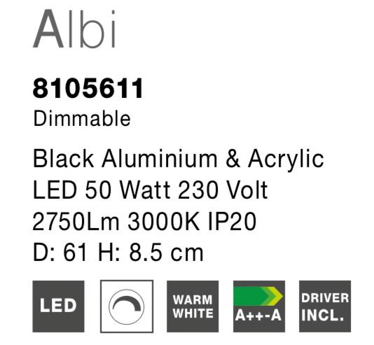 NOVA LUCE ALBI plafonjera - 8105611 - 4