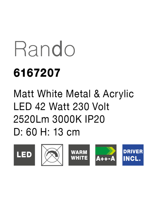 NOVA LUCE RANDO plafonjera - 6167207 - 2