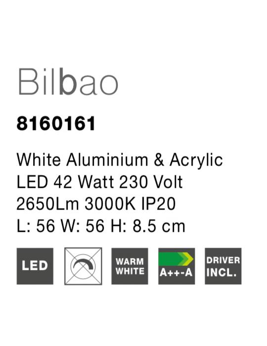 NOVA LUCE BILBAO plafonjera - 8160161