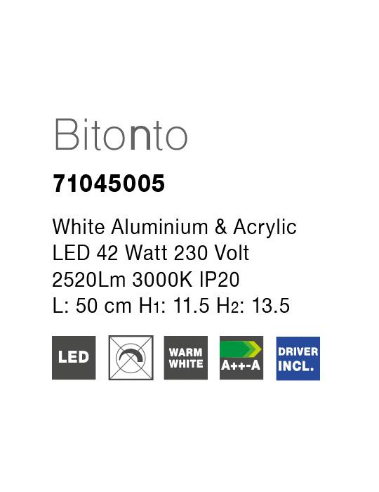 NOVA LUCE BITONTO plafonjera - 71045005