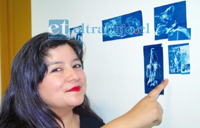 MONOCROMÁTICAS.- Esta joven artista visual sanfelipeña nos muestra parte de su trabajo en exposición en el CIEM Aconcagua.