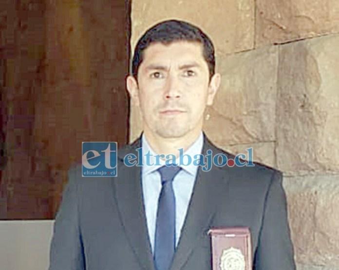 Comisario Patricio Cuevas, Jefe Subrogante de la BH Los Andes.