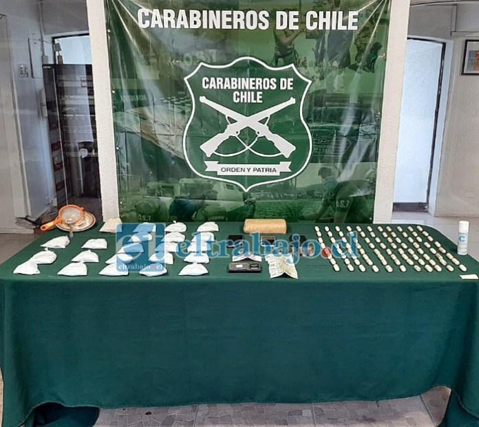 En el procedimiento se incautaron alrededor de 4 kilos de droga; cocaína y pasta base.