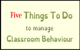 things to do to manage a classroom