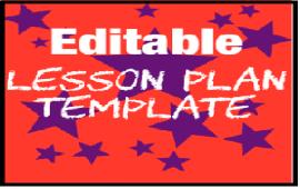 editable EFL lesson plan template