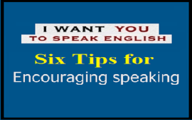 tips to encourage students to speak English out