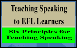 principles for teaching speaking to EFL learners