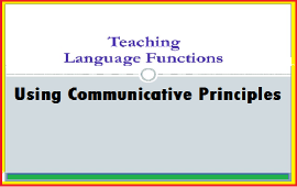 teaching language functions using communicative principles