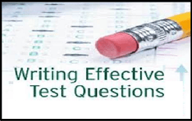 guidelines needed to write effective test items