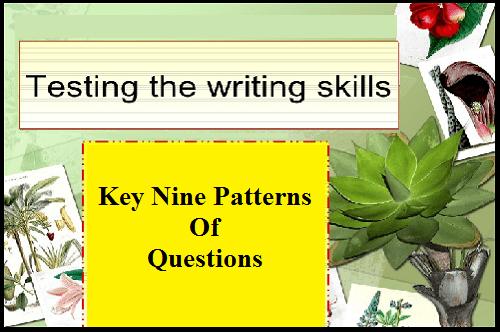 testing the writing skills